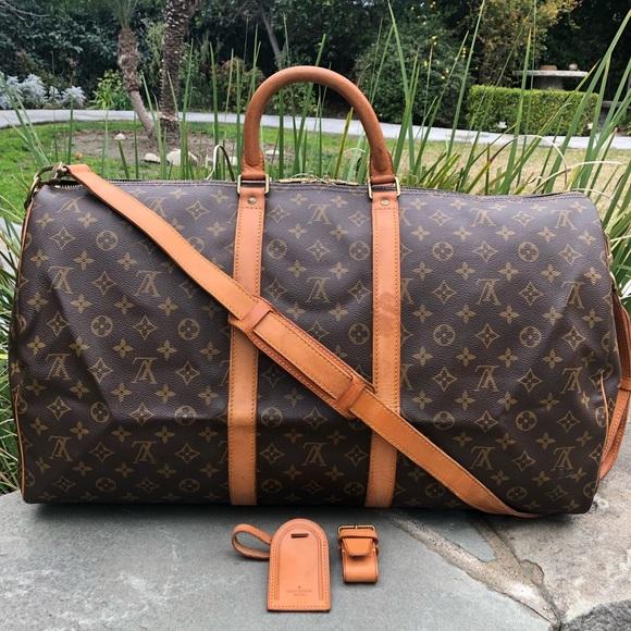 d154d37d8596 Louis Vuitton Handbags - 💯LV Keepall Bandouliere 55 •W STRAP   ACCESSORIES